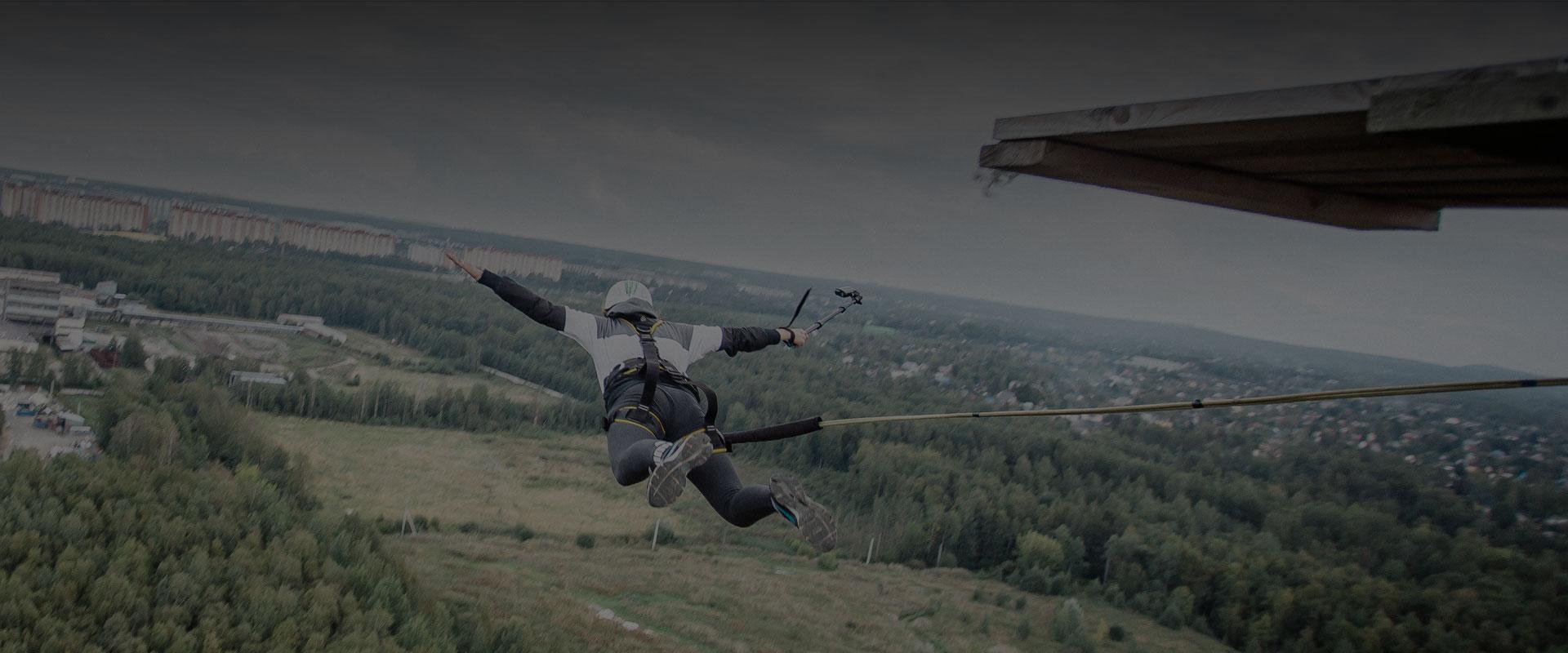 Une gopro performante pour le saut à l'élastique